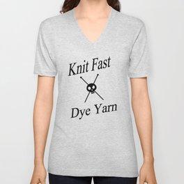 Knit Fast X Dye Yarn Unisex V-Neck