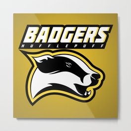 Badgers Hufflepuff  Metal Print
