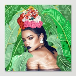 Rihanna naked Canvas Print