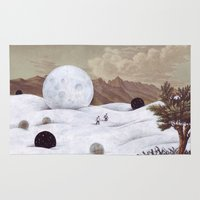 the moon Area & Throw Rugs featuring Moon by Matthias Leutwyler