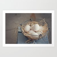 eggs Art Prints featuring Eggs by Luisa Morón-Fotografía