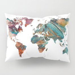 Map of the World triangle Pillow Sham