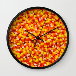 Candy Corn Halloween Candy Photo Pattern Wall Clock