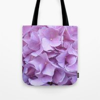hydrangea Tote Bags featuring Hydrangea by lillianhibiscus
