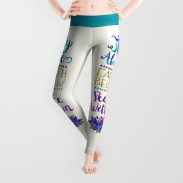 Sky Above Earth Below Peace Within Leggings