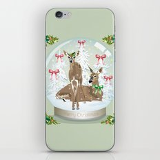 Snow globe deer iPhone & iPod Skin