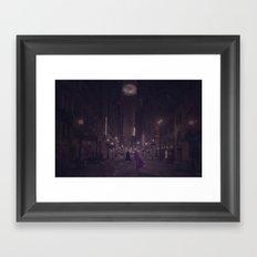 Gotham Nights Framed Art Print