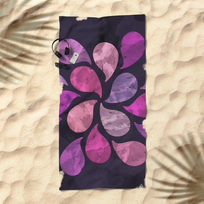 Abstract Water Drops Beach Towel
