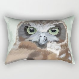 Green Eyed Owl Rectangular Pillow