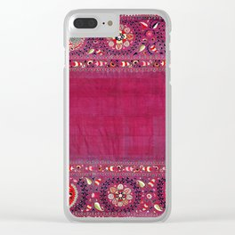Shakhrisyabz  Southwest Uzbekistan Suzani Embroidery Print Clear iPhone Case