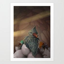 Bird nest Art Print