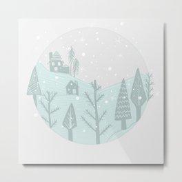 snowglobe Metal Print