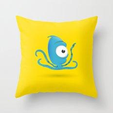 Octopus Blue/Yellow Throw Pillow