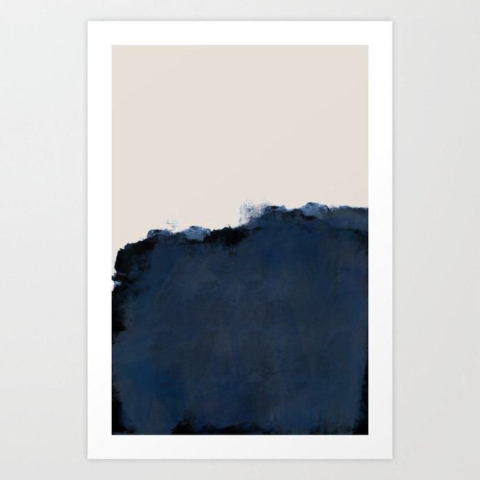 Abstract, blue, beige, indigo Kunstdrucke