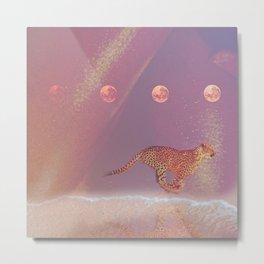 beach cheetah Metal Print