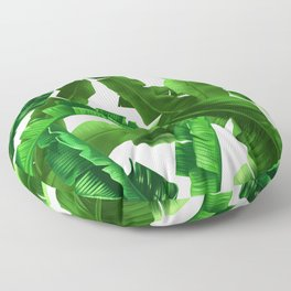 tropical banana leaves pattern Floor Pillow