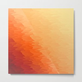 Orange Texture Ombre Metal Print