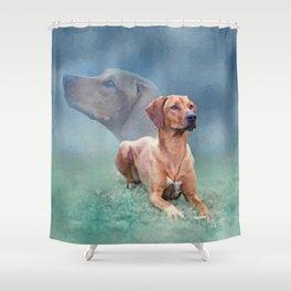 Rhodesian Ridgeback Dog Collage Shower Curtain