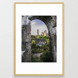 MINE RUINS AT WHEAL BASSET STAMPS CORNWALL Framed Art Print