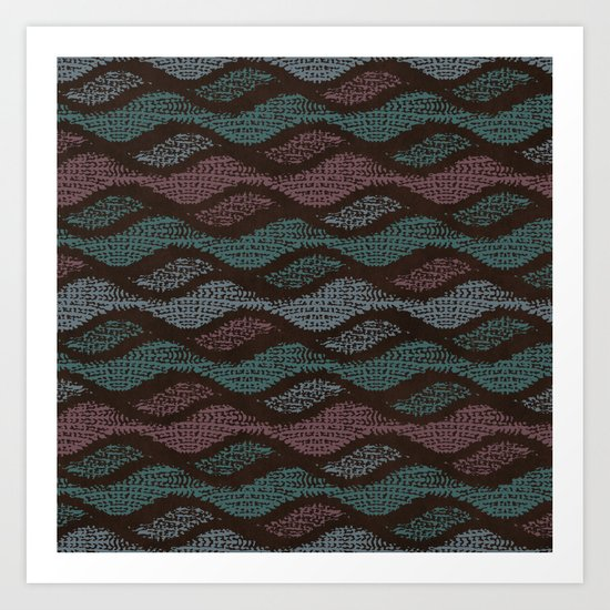 WOOL WAVES Art Print