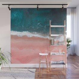 Turquoise Sea Pastel Beach III Wall Mural