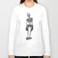 skeleton Long Sleeve T-shirts featuring skeleton by CarlyK473