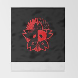 Panda Paw Paw T-Shirt Logo (Red) Throw Blanket