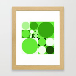 Squared Circles Framed Art Print