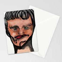 "Crooked ""Lips"" Lizzie Stationery Cards"