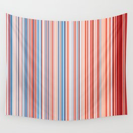 Warming Climate Stripes England Wall Tapestry