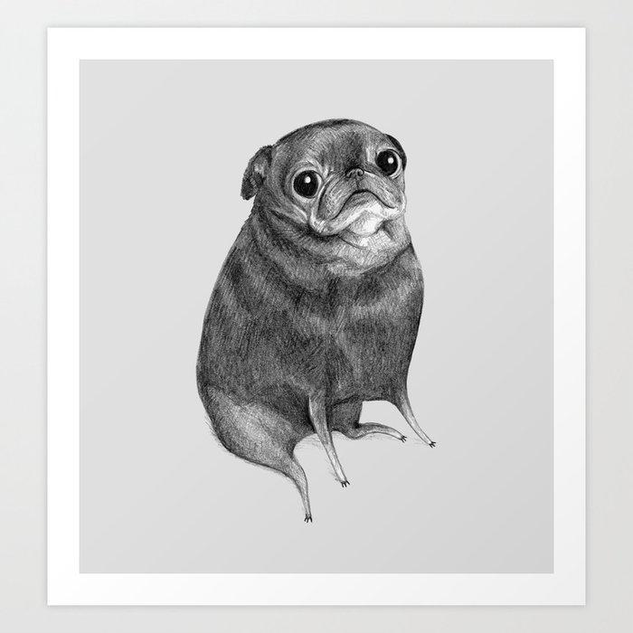 Sweet Black Pug Kunstdrucke