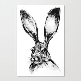 Rabbit Painting | Dry Brush | Animal Art | Animals Wall Art | Nature | Animal Forest Canvas Print