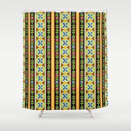 Elizabethan Folkloric Stripe Shower Curtain