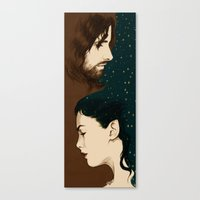 aragorn Canvas Prints featuring Arwen and Aragorn by cos-tam