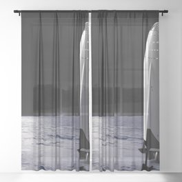 SpaceX Mission to Mars Martian Landscape Dragon Sheer Curtain