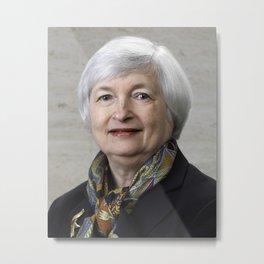 Janet Yellen Metal Print
