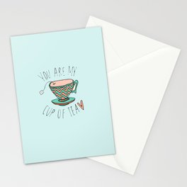 """YOU'RE MY CUP OF TEA"" Stationery Cards"