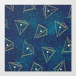 Tetrahedral Molecular Geometry Constellation Art Canvas Print