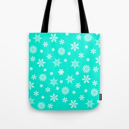 Snow Flurries-Frosty Blue Tote Bag