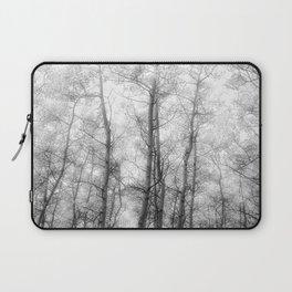 Black and White Aspens Laptop Sleeve