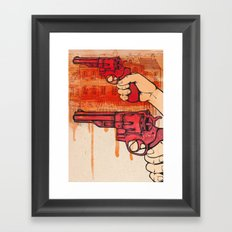 Bang Framed Art Print