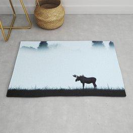 The moose - minimalist landscape Rug