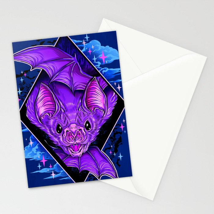 Bat Wings Stationery Cards