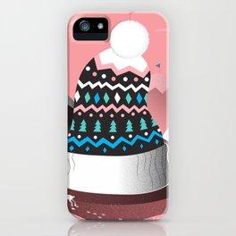 Mount Pom-Pom iPhone Case
