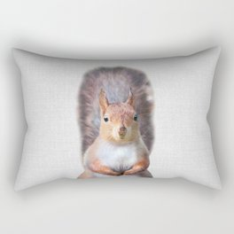 Squirrel - Colorful Rectangular Pillow