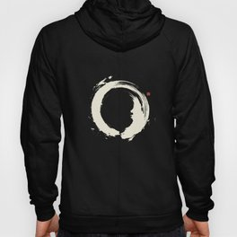 Black Enso / Japanese Zen Circle Hoody