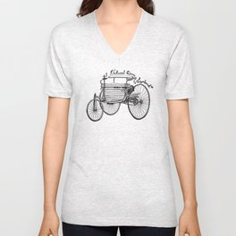 Vintage benz 1885 | Natural Born Vagabond™  Unisex V-Neck