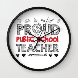 Public School TEACHER Wall Clock