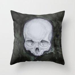 skull study No.4 (aka - Paul) Throw Pillow