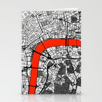 london map Stationery Cards featuring London Map by Dizzy Moments